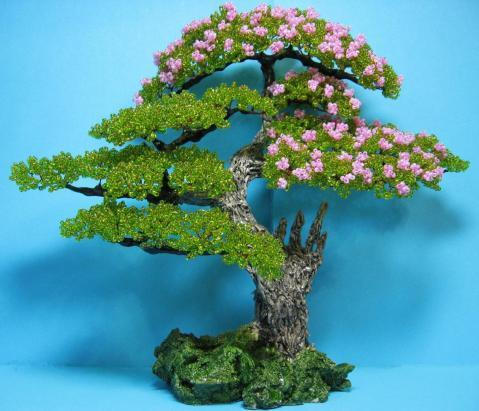 Мастер класс дерево банзай бисером с