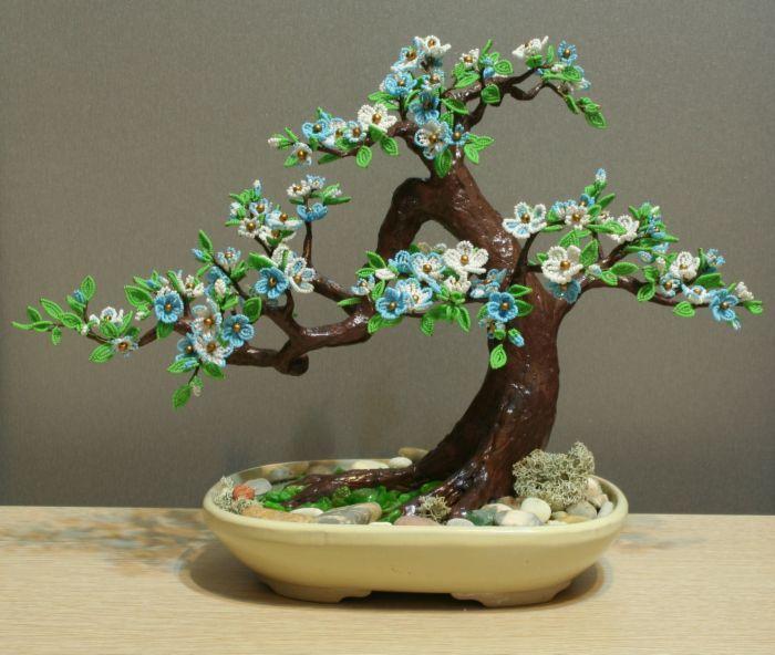 Дерево с камнями своими руками мастер класс